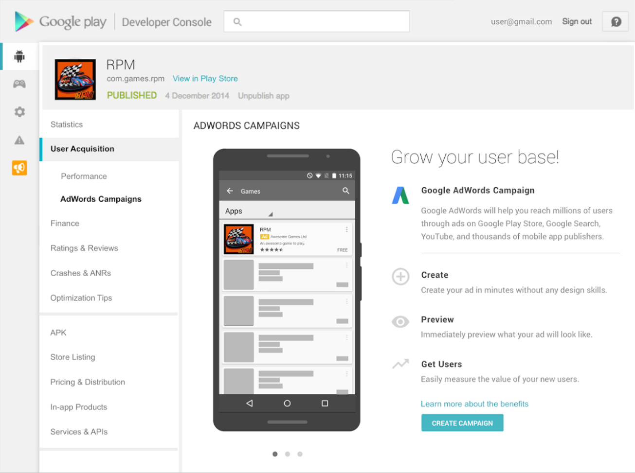 Android developers blog empowering successful global businesses on google play - Google developer console ...