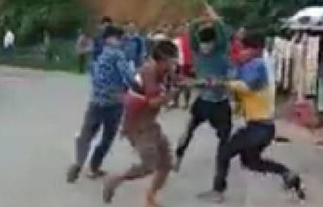 बबूल के पेड़ काटने को लेकर दो पक्ष में मारपीट - rewa news