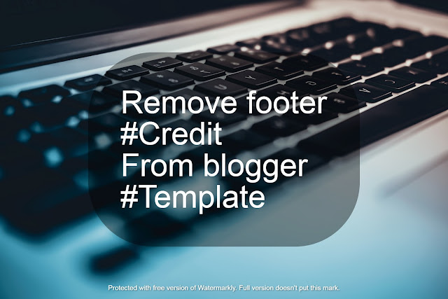 How to remove footer credit without redirecting
