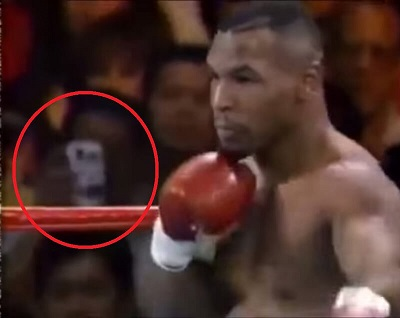 Unexplained Time Traveller Seen at Mike Tyson Fight