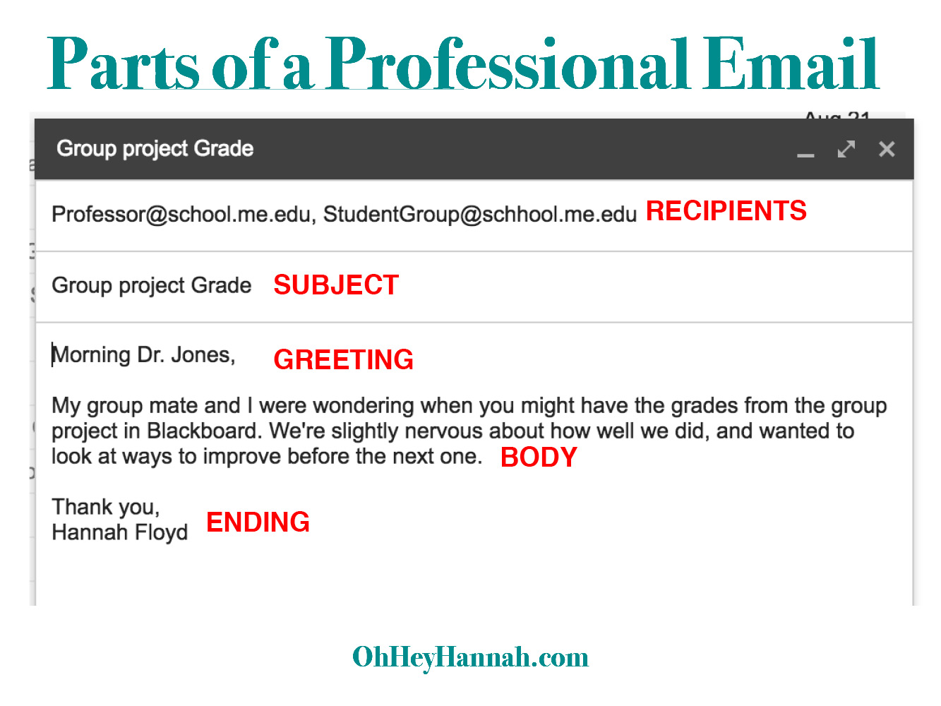 Professional emails 101 oh hey hannah professional email format thecheapjerseys Image collections