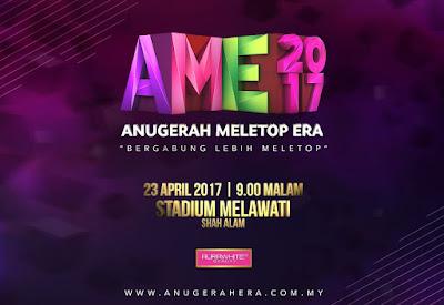 Anugerah Meletop Era 2017 Kembali Lagi !