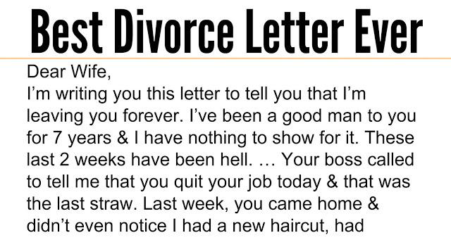 Divorcing a good man