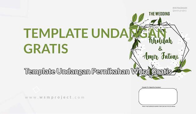 Download Template Undangan Pernikahan Gratis