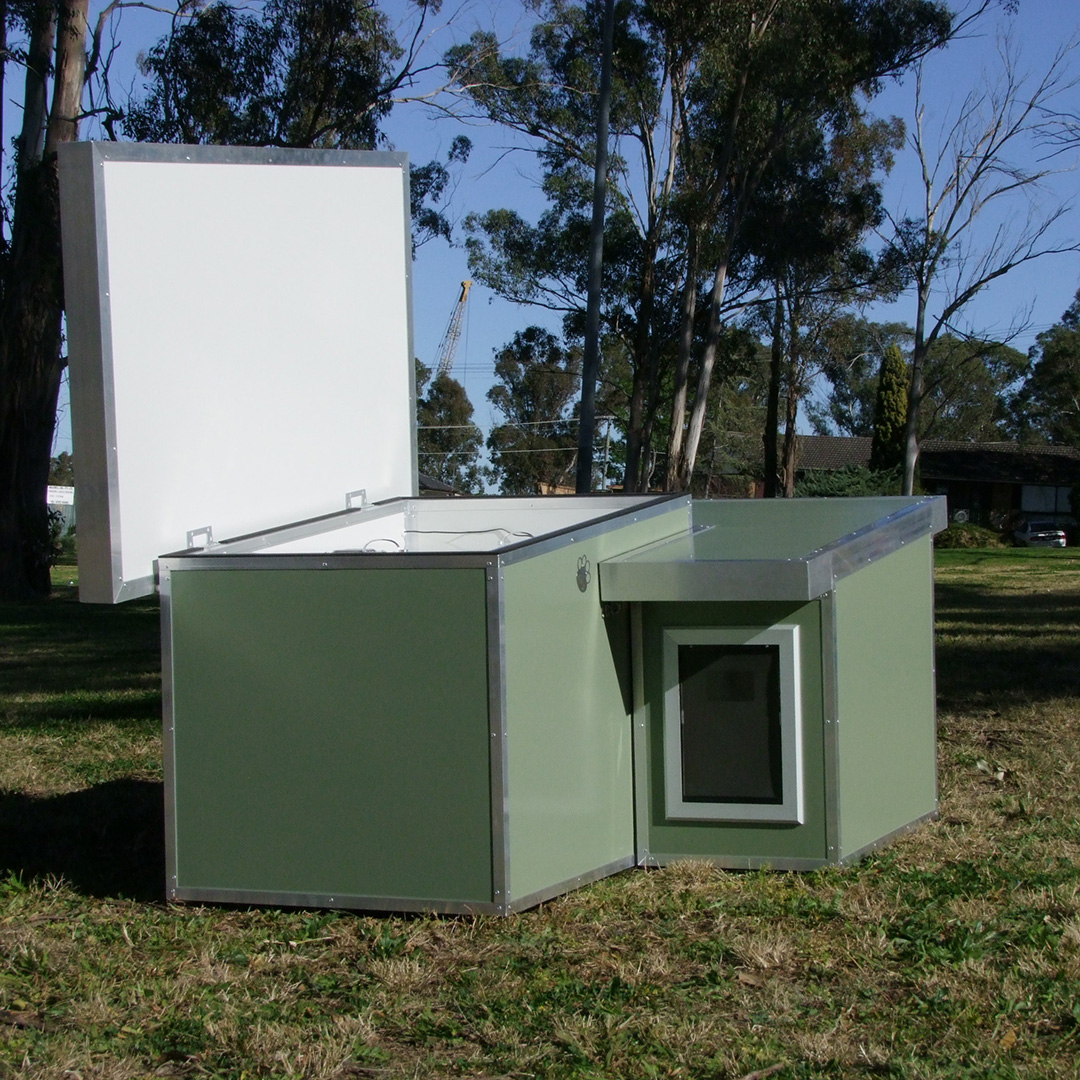 Kumfi kennels insulated dog kennels australian dog lover for How to soundproof a dog kennel