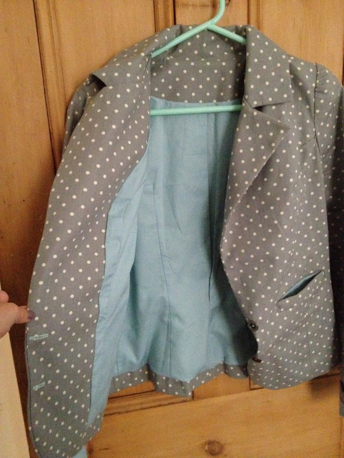 Diary of a Chain Stitcher: Polka Dot Chloe Jacket from Jolie Marie Louise