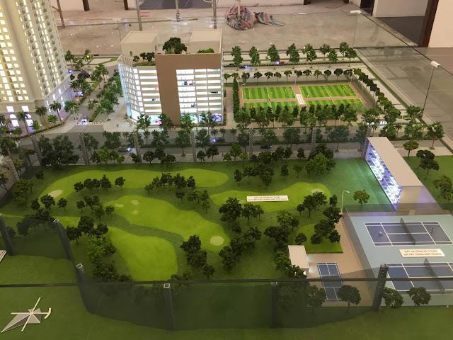 Sần Golf, sân bóng mini, sân tenis dự án chung cư Eco Lake View
