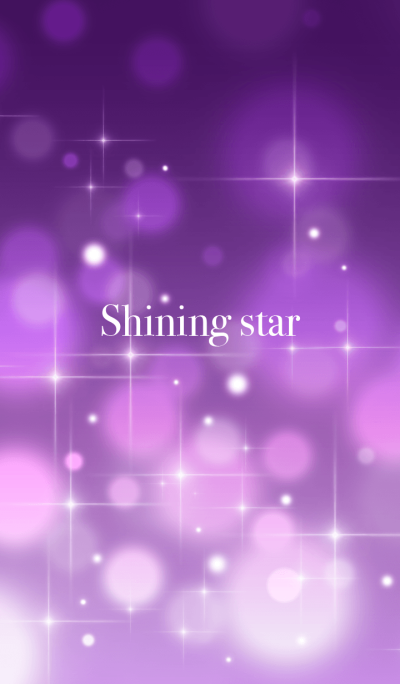 Shining star(purple)