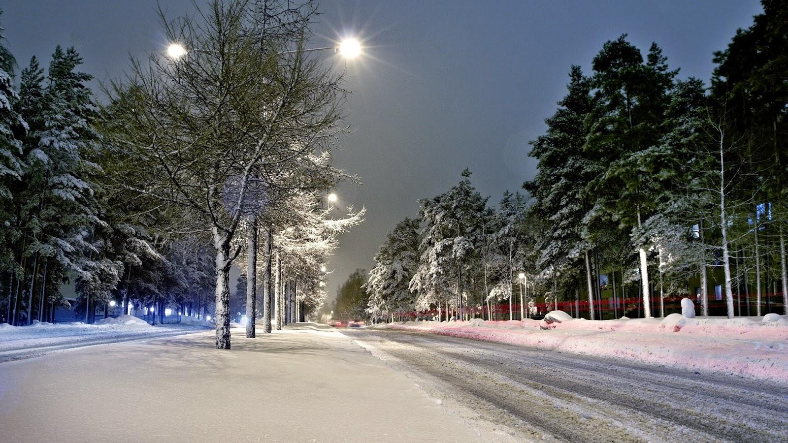 HD Kar Ve Kış Manzara Fotoğrafları