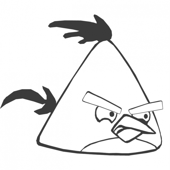 angry monster coloring pages | Angry Birds Coloring Pages ~ Free Printable Coloring Pages ...