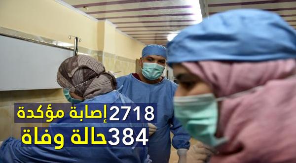 وزارة الصحة : 2718 إصابة مؤكدة .. و 384 حالة وفاة
