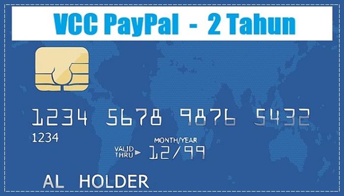 Jasa Pembuatan VCC MasterCard Untuk Verifikasi PayPal - 2 TAHUN Cepat dan Instan