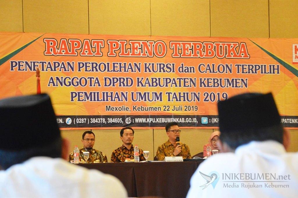 Penetapan Pemenang Pemilu Legislatif, PDIP Raih 12 Kursi di DPRD Kebumen