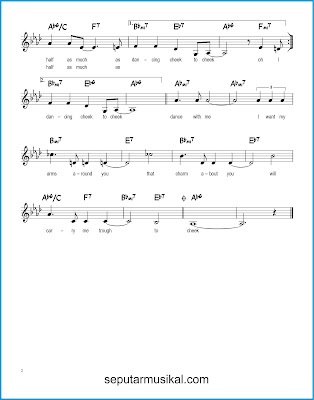 Cheek to Cheek 2 chords jazz standar