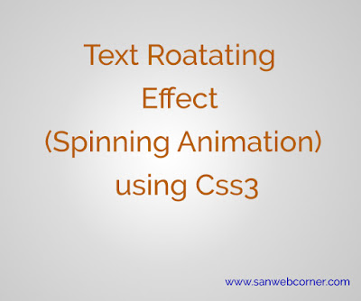 How to create text rotate animation (spin) using css3