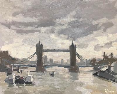 #235 'Tower Bridge, The Thames' 8×10″