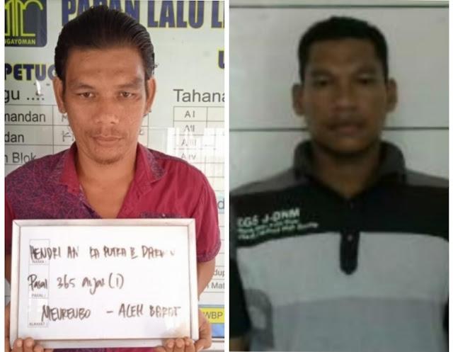 Dua Tahanan Lapas Kelas II B Langsa Kabur