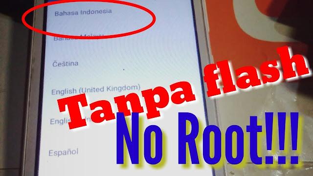 Cara Menambah Bahasa Indonesia di MIUI China Tanpa Root Di Semua Android