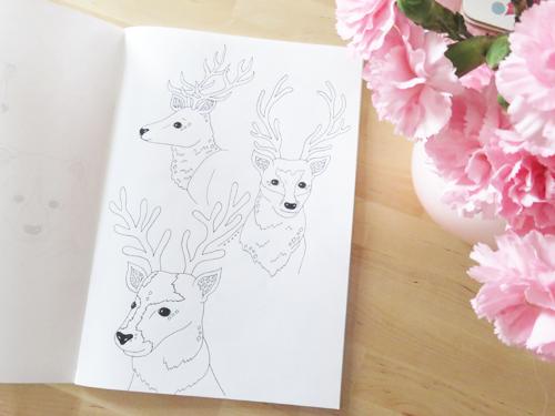 Emma Margaret Illustration Sketchbook 2016 Deer