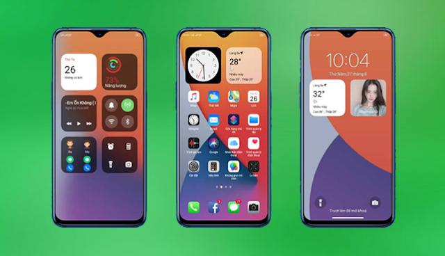 Tema iOS 14 Untuk Oppo ColorOs 5, 6 dan 7 Tembus Aplikasi