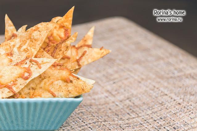 Домашний чипсы из лаваша с сыром: фоторецепт