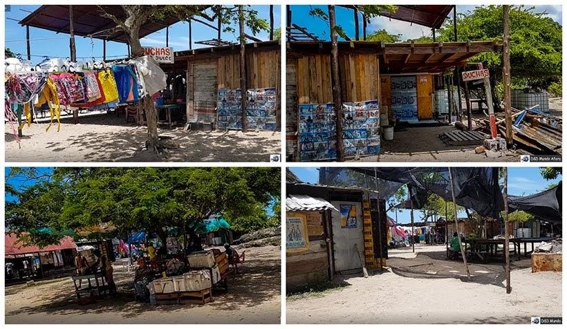 Parte feia da Playa Blanca: caribe colombiano em Cartagena