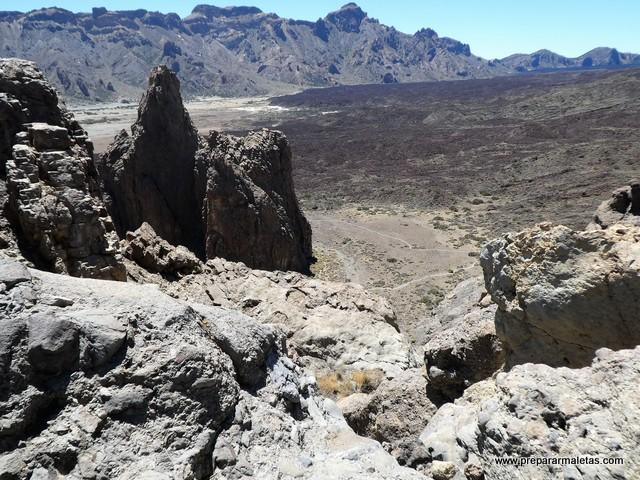 campos de lava en el Teide
