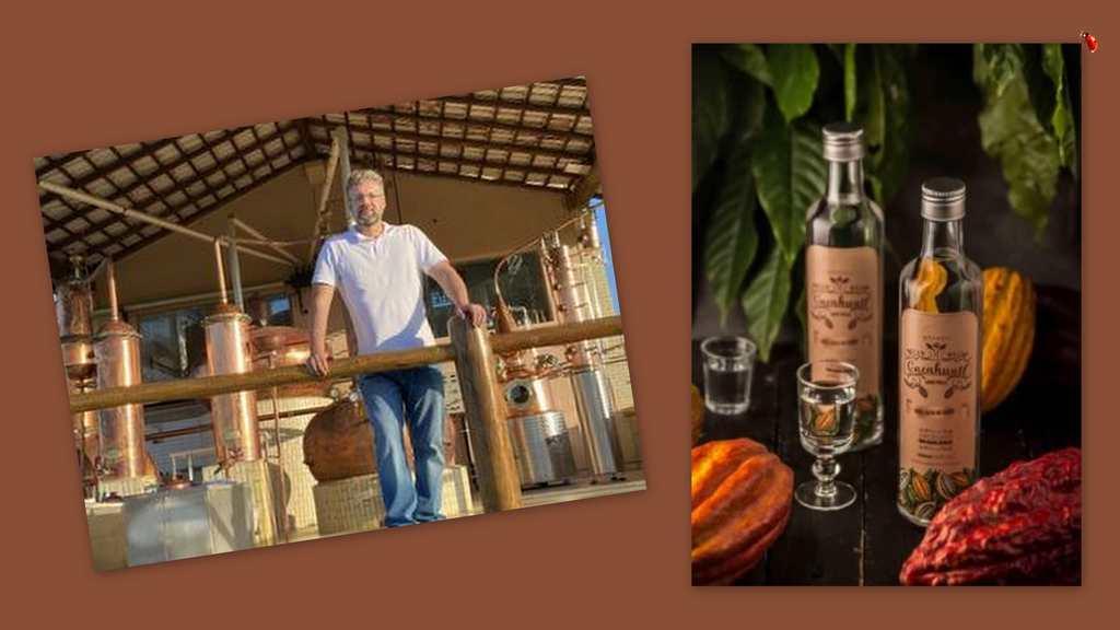 Scampini resolveu colocar em prática tudo o que aprendeu no curso de destilados e teve uma ideia ousada: criar uma aguardente de cacau