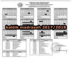 UNDUH KALDIK (KALENDER PENDIDIKAN) MADRASAH TAHUN PELAJARAN  2017/2018