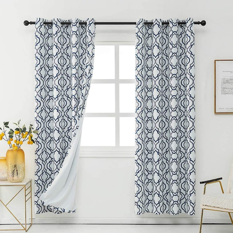 30% off 2pcs REEPOW Moroccan Thermal Insulated Grommet Blackout Curtains 52x63 inch for Livingroom