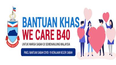 Permohonan Bantuan We Care B40 Sabah (Semakan Status)
