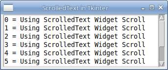ScrolledText in Tkinter