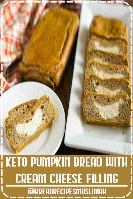 Keto Pumpkin Bread with Cream Cheese Filling