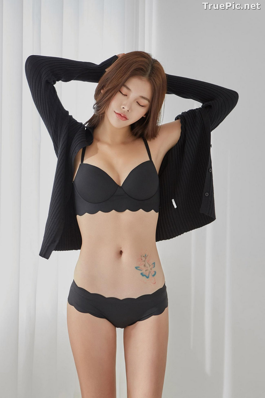 Image Korean Fashion Model – Da Yomi (다요미) – Lountess Spring Lingerie #2 - TruePic.net - Picture-2