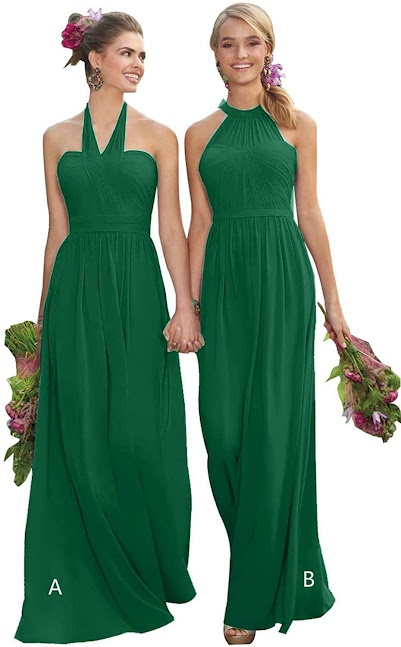 Gorgeous Green Chiffon Dresses for Bridesmaids