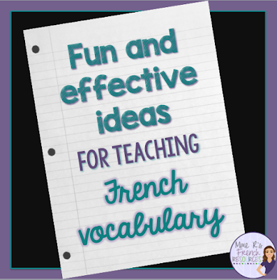Vocabulary activities for foreign language class