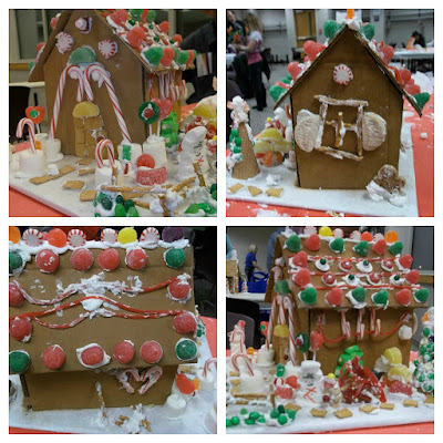 How to make a gingerbread house from cardboard