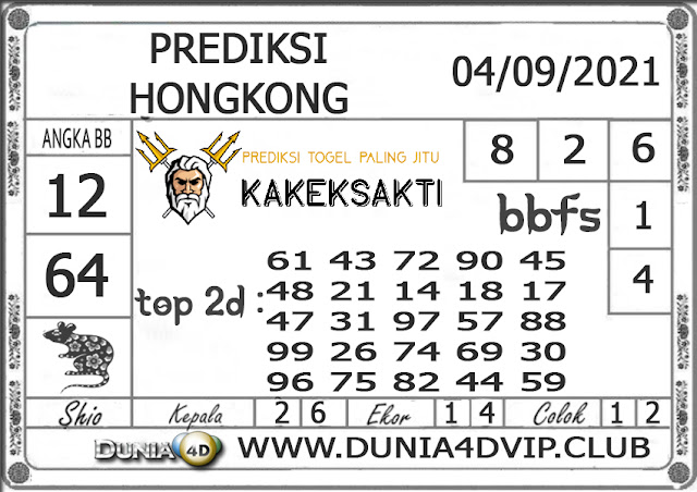 Prediksi Togel HONGKONG DUNIA4D 04 SEPTEMBER 2021