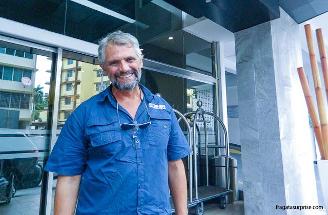 Roque Freitas, brasileiro guia de turismo no Panamá