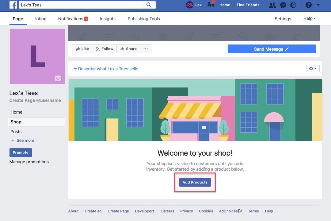 optimasi facebook shop untuk jualan teespring