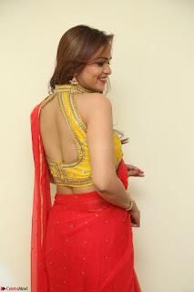 Actress Ashwini in Golden choli Red saree Spicy Pics ~  051.JPG