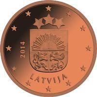 Latvia 5 senttiä kolikko
