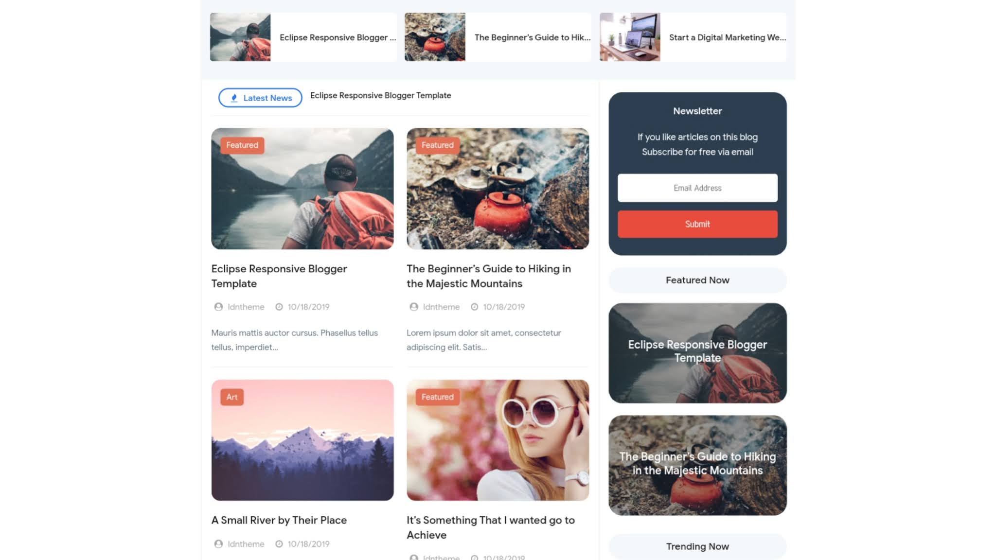 Eclipse V2 Premium Responsive Blogger Template [Free]