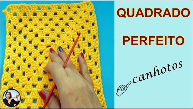 Croche para Canhotos Quadrado Perfeito em Crochê para Canhotos Perfect Grany Square