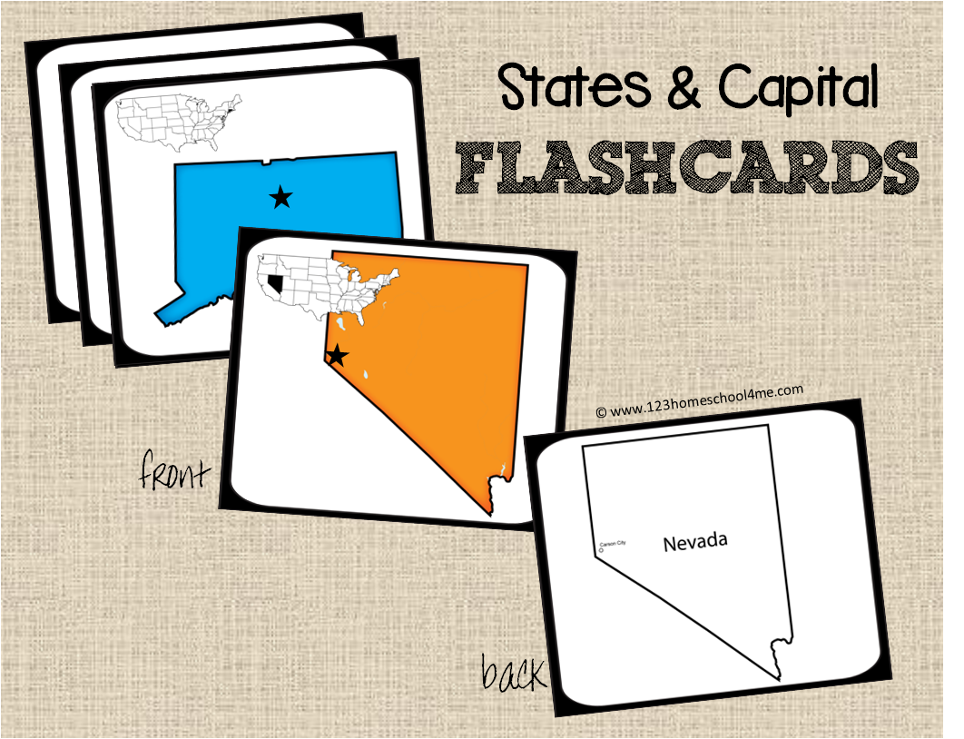 Bewitching image inside 50 states flash cards printable