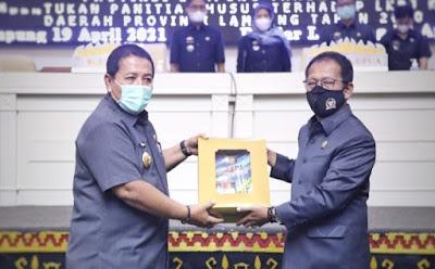 Gubernur Arinal Serahkan LKPJ TA 2020 ke DPRD Lampung