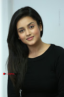 Telugu Actress Mishti Chakraborty Latest Pos in Black Top at Smile Pictures Production No 1 Movie Opening  0151.JPG