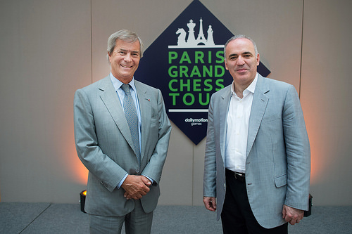 Vincent Bolloré et Garry Kasparov - Photo © Vivendi SA