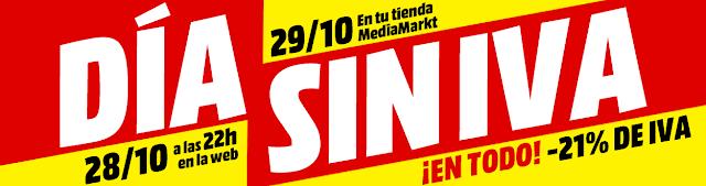 Día sin IVA Media Markt octubre 2018