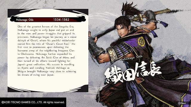 analise samurai warriors 5 switch perfil nobunaga oda